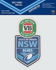 620393 NEW SOUTH WALES BLUES STATE OF ORIGIN SEE THRU CAR STICKER DECAL SOO NSW