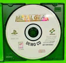 DEMO CD Metal Gear Solid - Playstation 1 2 PS1 PS2 Rare Game Tested - Konami