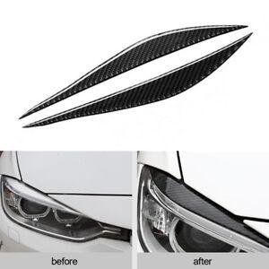 Carbon Fiber Headlight Cover Edge Sticker Decoration for BMW F30 320i 325i 13-15