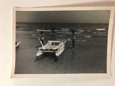 Vintage Real Photograph - #Z - Row Boat On Beach - Termoli (Italy) 1969