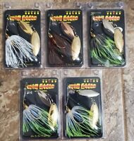 5 RANDOM ASSORTED WAR EAGLE SPINNERBAIT COPPER 3/8 OZ FISHING LURE BASS