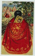 xRARE Advertising Postcards EARLY c 1902 Mechanical Native American Indian