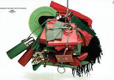Publicité Advertising 078  1990   Hermès  boutique cadeaux accessoires (2 pages)