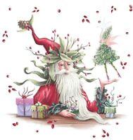 Holidays Modern Santa Holding Fairy,Cross Stitch Pattern