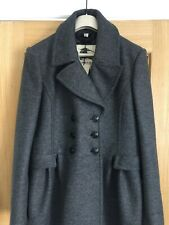 NEW BURBERRY PRORSUM LONDON DOUBLE BREASTED MID GREY WOOL COAT, UK 16, RRP £795