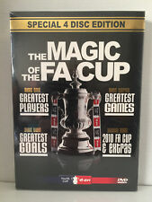 THE MAGIC OF THE FA CUP ~ BRAND NEW & SEALED ~ 4 DISC PAL DVD BOX SET ~ 320 MINS