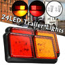 2x 10-30V 24LED Trailer Lights Rear Tail Indicators Truck Caravan Boat Ute