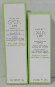 Mary Kay Satin Lips Shea Butter Balm and Shea Sugar Scrub Set of 2