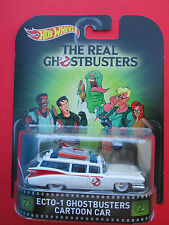 "HOTWHEELS 2016 RETRO ENTERTAINMENT ""THE REAL GHOSTBUSTERS"" ECTO-1 CARTOON CAR"