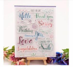 Celebration & Sentimental Greetings Craft Stamps