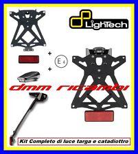Portatarga LighTech HONDA HORNET 600 11>12 regolabile + luce targa led 2011 2012