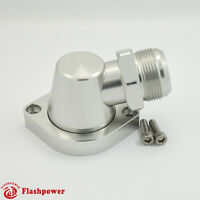 Billet Swivel Thermostat Housings Water NecK 90 AN20 LS Engine Clear