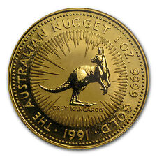 1991 Australia 1 oz Gold Nugget BU - SKU #67180