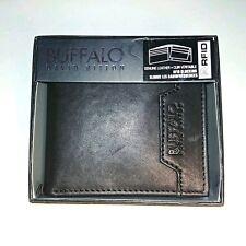 Buffalo David Bitton - Leather Billfold Wallet - Dk Brown Bifold - RFID Blocking