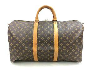 "Auth Louis Vuitton Vintage Monogram Keepall 50 Travel Hand Bag 0J150120r"""