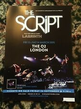 THE SCRIPT NO SOUND WITHOUT SILENCE UK TOUR LONDON A4 POSTER