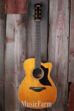 Yamaha AC1M Cutaway Acoustic Electric Guitar Solid Spruce Top Vintage Natural