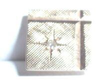 fine mens 14K yellow diamond tie tack marked La Mode