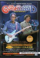 2011 Eric Clapton Steve Winwood Japan Tour Concert Flyer mini poster C / Traffic