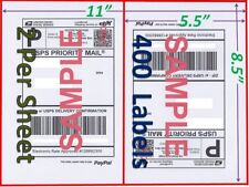 400 Self Adhesive Shipping Blank Labels 85x55 Paypal