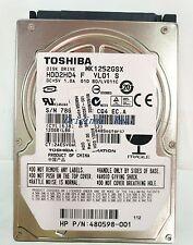 "Toshiba MK1252GSX 120GB SATA 5400 RPM,6.35 cm (2.5"") (HDD2H04) NOOTBOOK HDD"