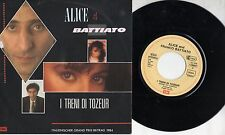 ALICE FRANCO BATTIATO disco 45 MADE in GERMANY I treni di Tozeur EUROVISION 1984