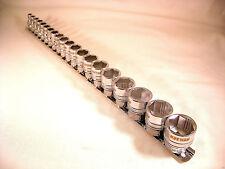 """XI-en la tecnología Socket Set, 3/8""""Dr 6mm - 22mm, en metal Ferrocarril, New Reino Unido Stock"""