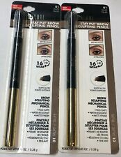 (2) Milani Stay Put Brow Sculpting Pencil, 01 Taupe