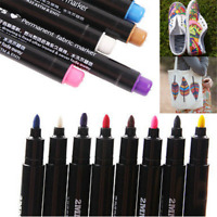Fun Permanent Fabric Paint Marker T-Shirt Pen For Clothes Shoes DIY Graffiti new