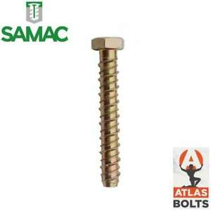 ATLAS HEX HEAD SELF TAPPING THUNDERBOLT CONCRETE MANSORY FIXING ANCHOR BOLTS