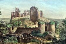 Burg Altenstein Original Lithografie Saxonia 1837 Unterfranken Markt Maroldsweis
