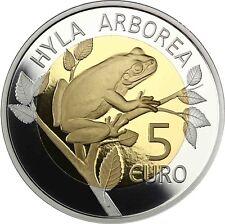 Luxemburg 5 Euro 2017 Laubfrosch aus der Serie Flora und Fauna im Folder