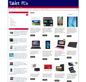 FULLY STOCKED TABLET PC WEBSITE WITH NEW DOMAIN + 1 YEARS HOSTING