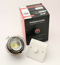 CHROME FIRE RATED  GU10 DOWN LIGHT WITH DIMMABLE  LED 6.3 WATTBULB £5.99