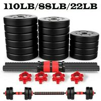 110 LB/88 LB Weight Dumbbell Set Adjustable CAP Barbell Plates Body Workout Home