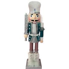 "Nutcracker Soldier Blue Velvet Jacket Fur Boots & Silver Sparkling Rhinestone15"""