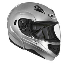 Vega Summit II Modular Flip Up Motorcycle Helmet Silver