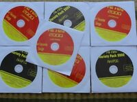 7 CDG DISCS OLDIES COUNTRY KARAOKE ROCK,OLDIES - KISS,HEART,BROADWAY CD+G MUSIC