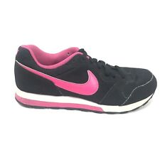 Nik MD Runner 2 Running Shoes Womens Size 7 Low Top Black Pink Sneakers 807319