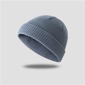 Cuff Beanie Hat Yarn Knit Skully Cap grey Red black Winter thick Ski Warm Unisex