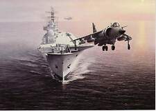 Hawker Siddeley VTO Sea Harrier jump jet Invincible class aircraft carrier card