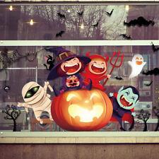 Happy Halloween window glass doors and windows background decoration stickerBDA