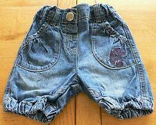 85- Short boule jean bleu 12 mois KIDKANAI