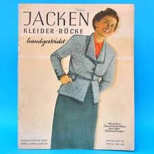 Jacken Kleider Röcke handgestrickt | Schnittbogen DDR 1950 Verlag für die Frau