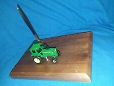 John Deere Desk Pen Set, John Deere Model Walnut Wooden Plaque