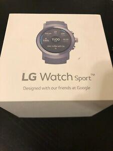 LG Watch Sport W280A 45.4mm Titanium Stainless Steel in original box!