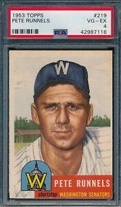 1953 Topps Set Break # 219 Pete Runnels PSA 4 *OBGcards*