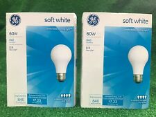 (8) GE 60 Watt Soft White General Purpose Incandescent Light Bulbs (Two 4-Packs)