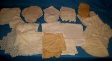 Vtg Lot 35 Linen/Cotton Table Scrafs/Tablecloths/Doilie s Lace/Crochet Crafts/Use