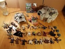 Playskool Star Wars Galactic Heroes Collection / Lot- Millennium Falcon, Speeder